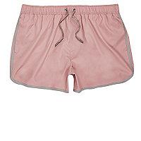 Dusty pink short swim shorts