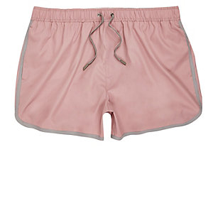 Dusty pink short swim trunks
