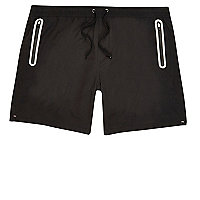 Black tech swim shorts