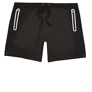 Black tech swim trunks