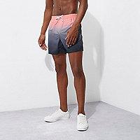 Pink dip dye swim trunks