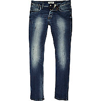 Jack & Jones – Slim Fit Jeans in hellblauer Waschung
