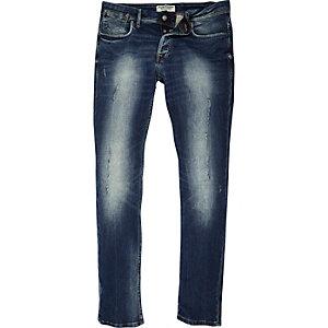 Jack & Jones vervaagde blue wash slim-fit jeans