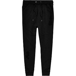 Jack & Jones zwarte joggingbroek met paneel