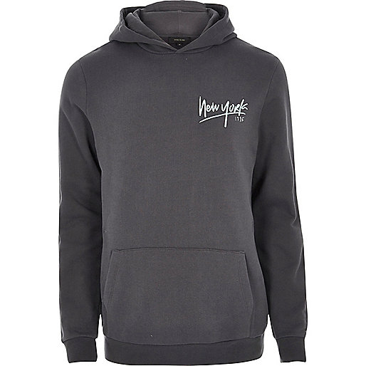 Dark grey New York hoodie