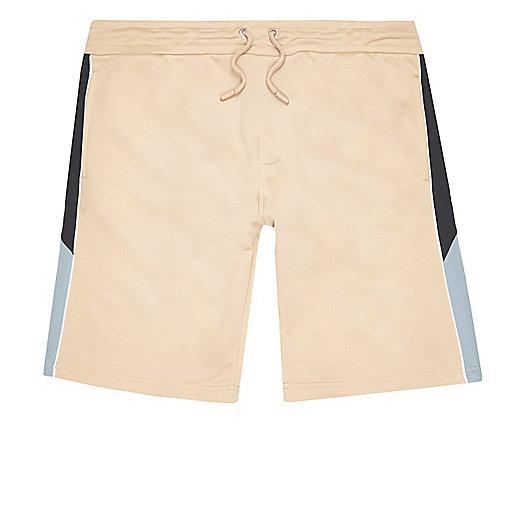 Camel sporty contrast shorts