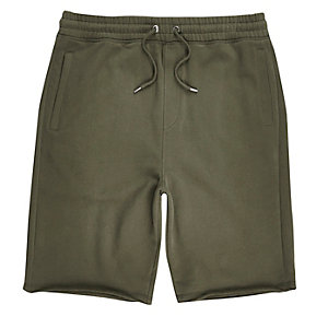 Lange Jogging-Shorts in Khaki