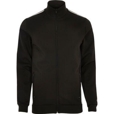 Zwart gestreept trainingsjack