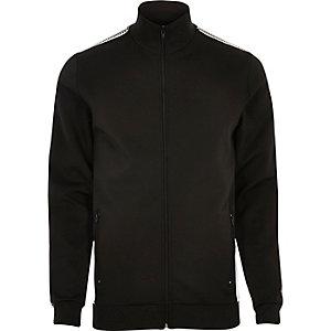 Schwarze, gestreifte Trainingsjacke