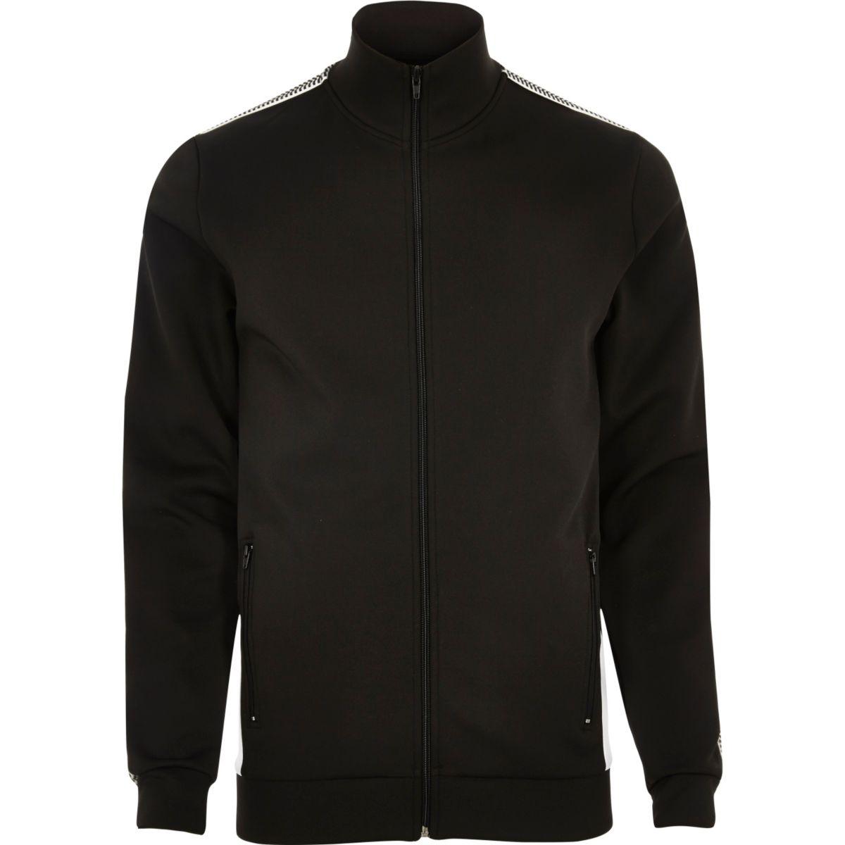 Black stripe track jacket
