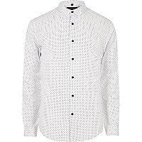 Elegantes, schmales Hemd mit Punkten
