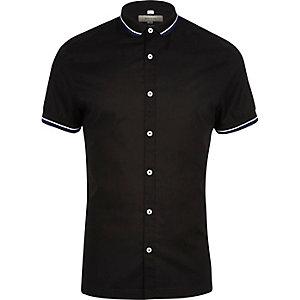 Schwarzes Slim Fit Hemd