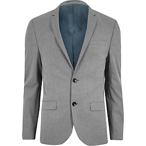 Light grey skinny fit suit jacket