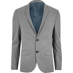 Veste de costume coupe skinny gris clair