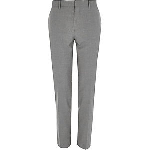 Pantalon de costume gris clair coupe skinny