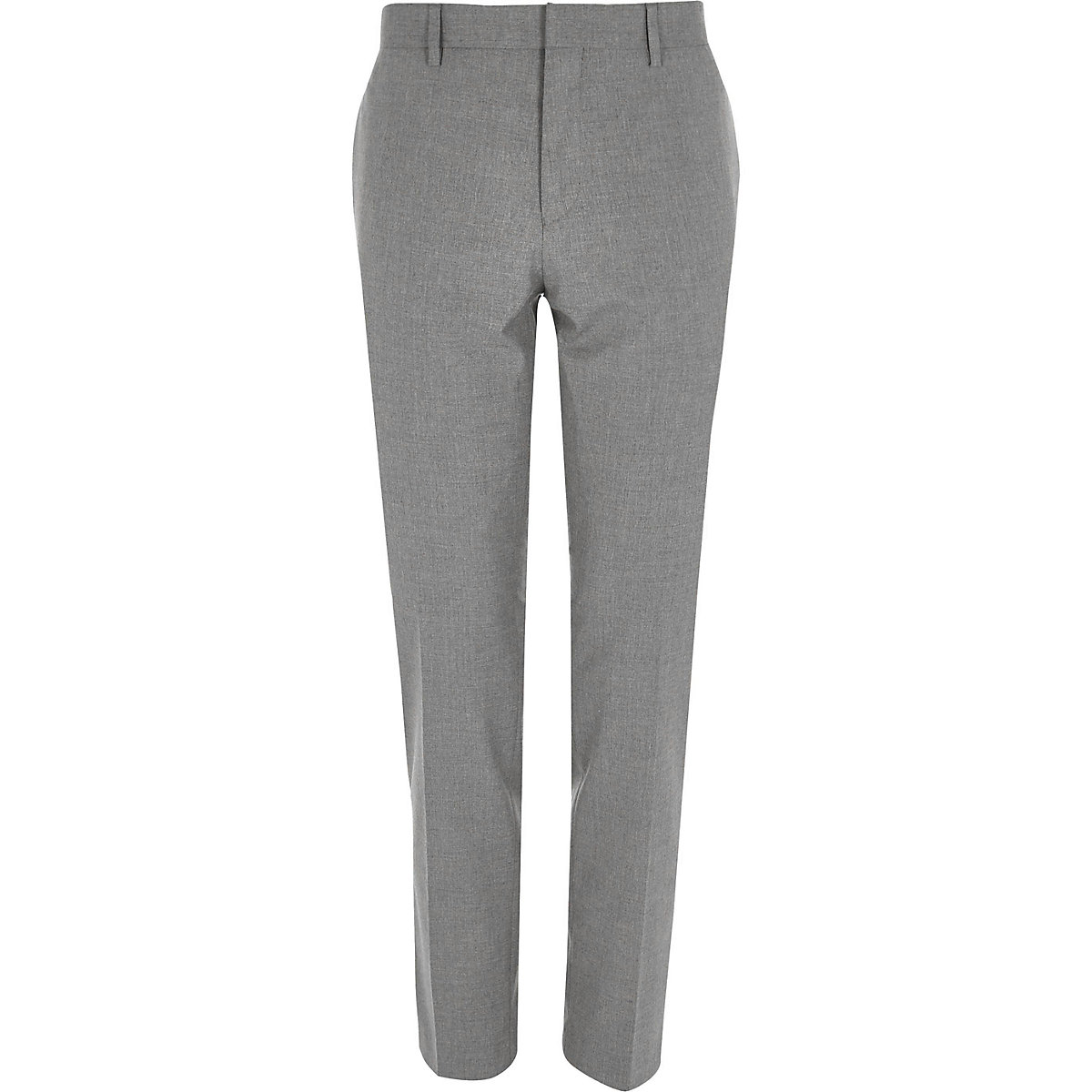 Light grey skinny suit trousers