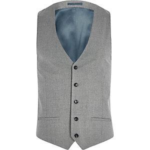 Gilet de costume slim gris