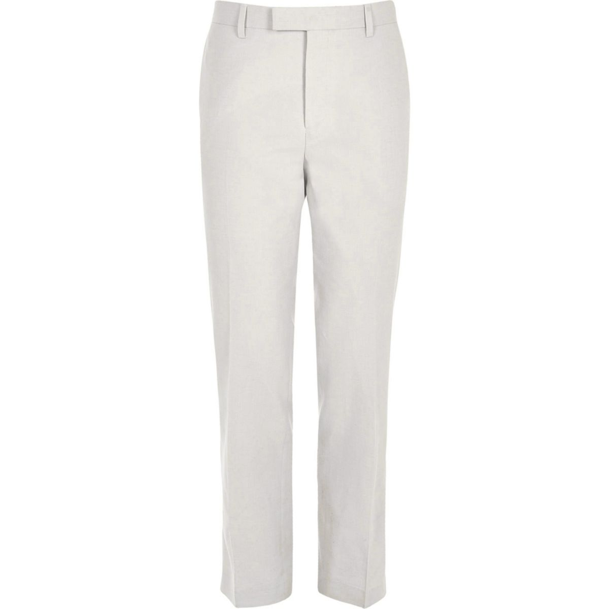 Beige Slim Fit Leinenhose