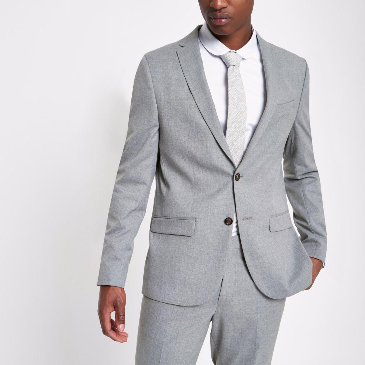 Veste de costume grise coupe cintrée