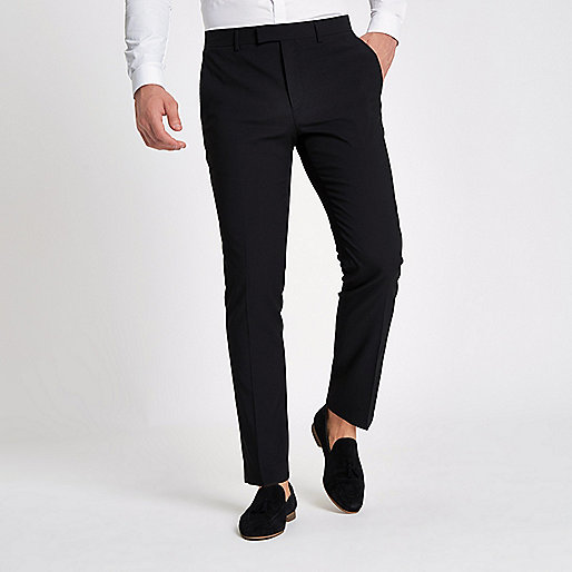 Black skinny fit suit pants