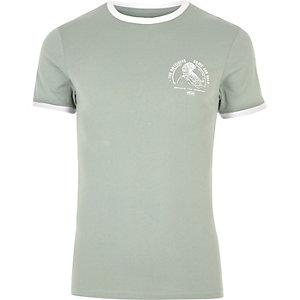 Mintgrünes, figurbetontes T-Shirt
