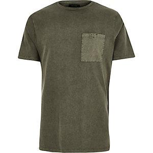T-Shirt mit Reißverschluss und Tasche