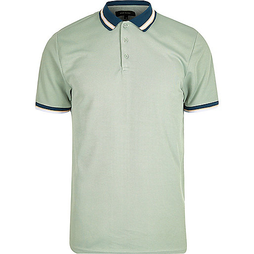 Light green short sleeve polo shirt