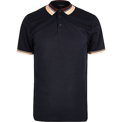 Navy short sleeve polo shirt