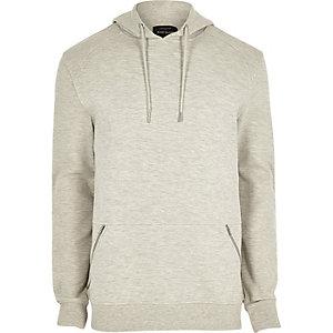 Grey piqué hoodie