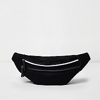 Black mesh bum bag