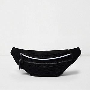 Gürteltasche aus schwarzem Mesh