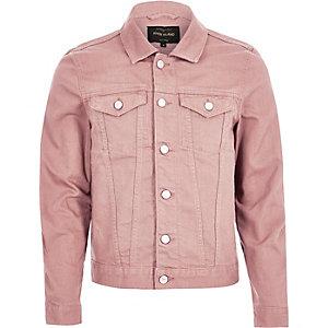 Pinke Jeansjacke