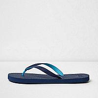 Navy blue flip flops