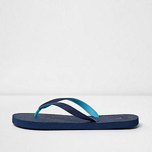 Marineblaue Flip Flops