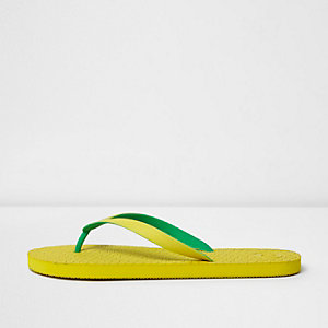 Tongs jaunes