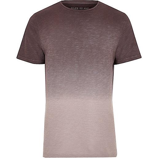 Purple dip dye slim fit T-shirt