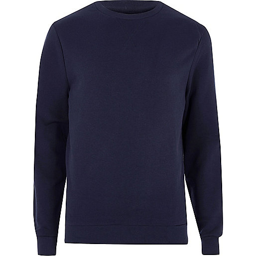 Navy blue V-neck stitch sweatshirt