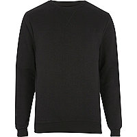 Black V-neck stitch sweatshirt