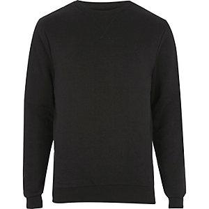 Zwart sweatshirt met opgestikt V-halsdetail