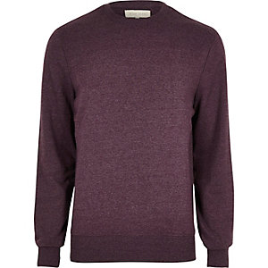 Burgundy textured sweatshirt