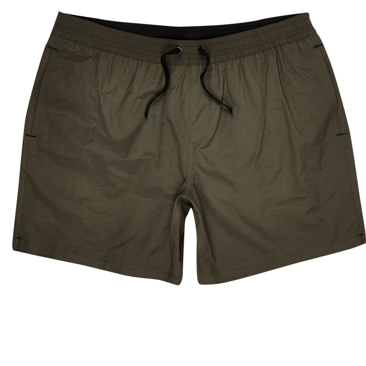Khaki green swim trunks