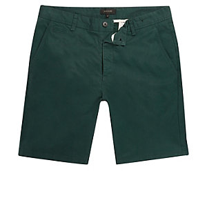 Grüne Slim Fit Shorts