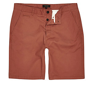 Slim Fit Shorts in Orange