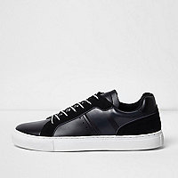 Black lace-up sneakers