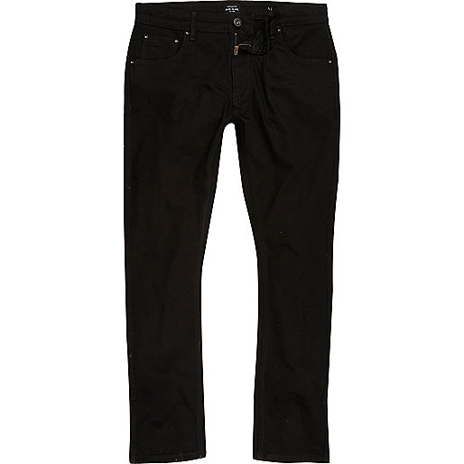 Black wash Ronnie skinny cigarette jeans