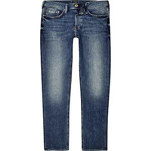 Dylan - Middenblauwe wash slim-fit jeans