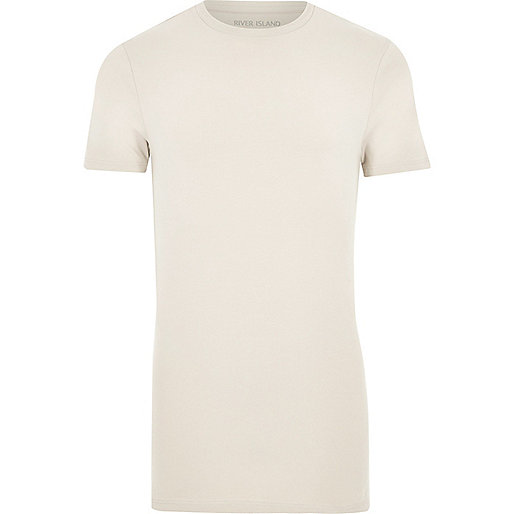 Stone longline muscle fit T-shirt