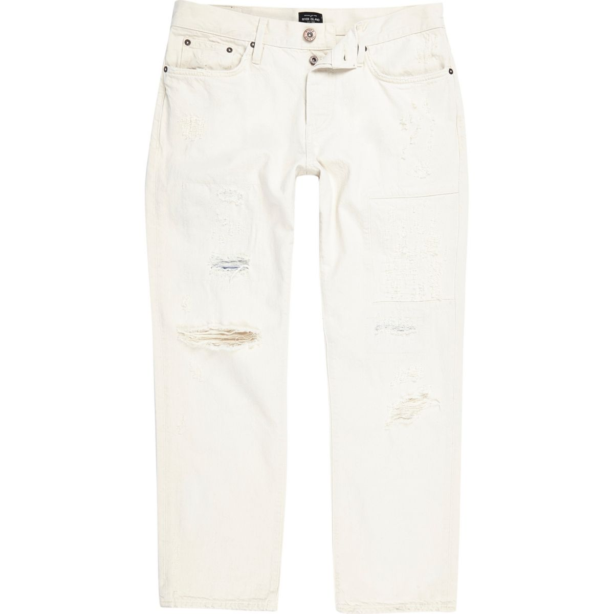 White wash distressed loose fit Cody jeans