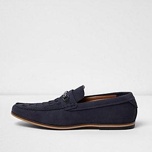 Marineblaue Loafer