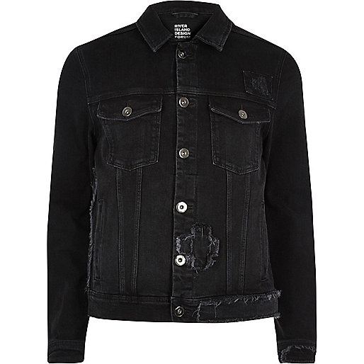 Black Design Forum patchwork denim jacket